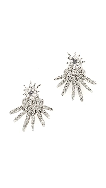 Oscar de la Renta Celestial Star Back Drop Earrings