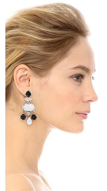 Oscar de la Renta Dahlia Resin Clip On Drop Earrings