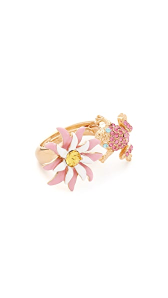 Oscar de la Renta Resin Lily Ring