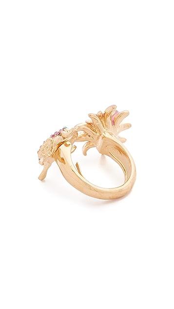 Oscar de la Renta Resin Lily Ring