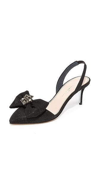 Oscar de la Renta Pamie Slingback Sandals - Black