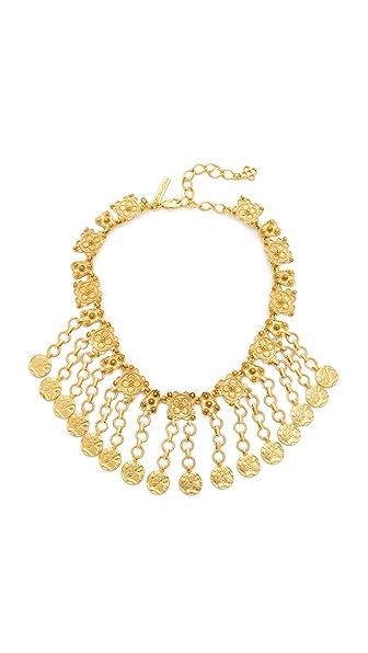 Oscar de la Renta Charm Coin Necklace