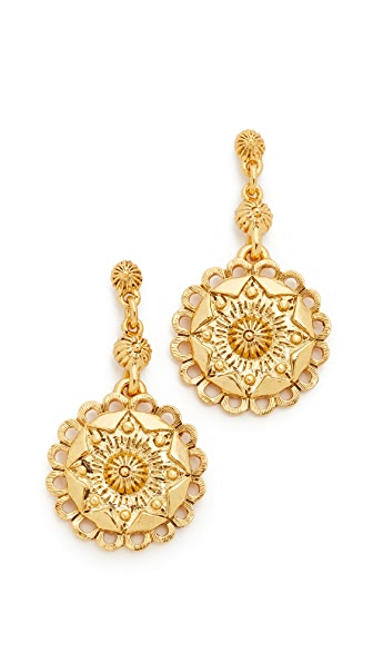 Oscar de la Renta Scalloped Earrings