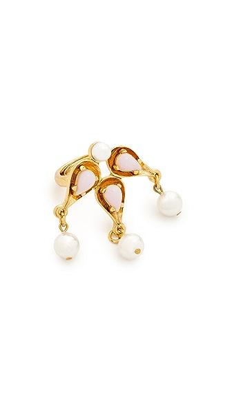 Oscar de la Renta Cabochon Imitation Pearl Ring