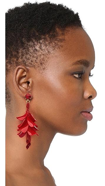 Oscar de la Renta Waterfall Opaque Earrings