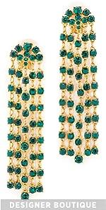Crystal Tassel Earrings Oscar de la Renta