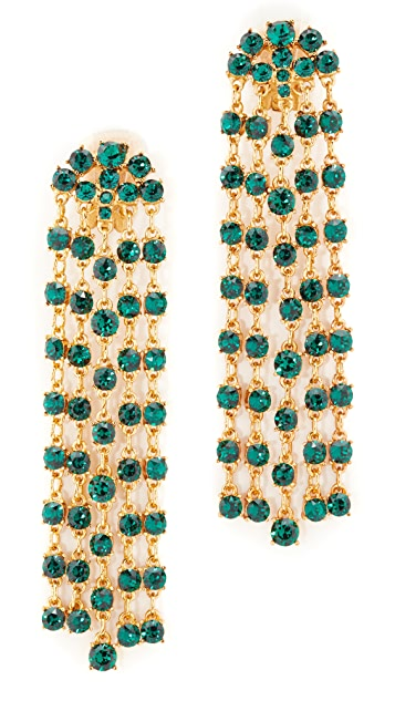 Oscar de la Renta Crystal Tassel Earrings
