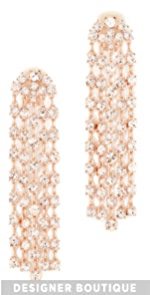 Crystal Tassel Earrings Oscar de la Renta