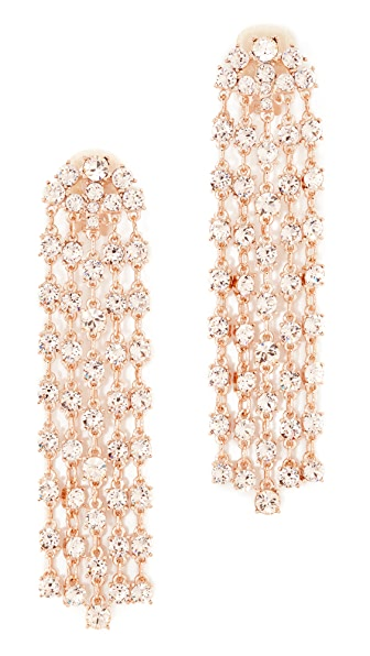 Oscar de la Renta Crystal Tassel Earrings - Silk