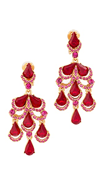 Oscar de la Renta Baroque Clip On Earrings - Cinnabar