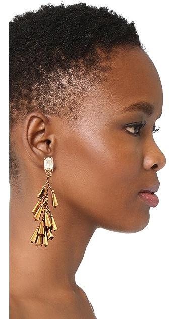Oscar de la Renta Multi Cone Clip On Earrings
