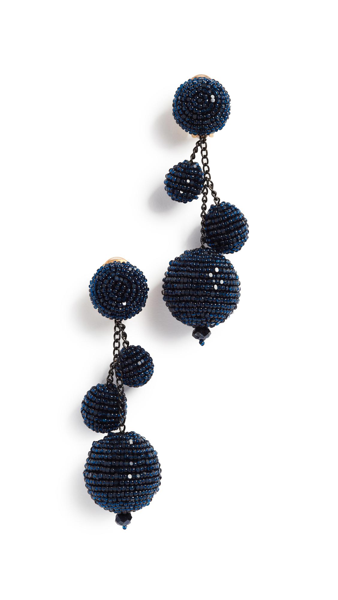Triple Beaded Ball Earrings Oscar De La Renta 4aoUmkrO5d