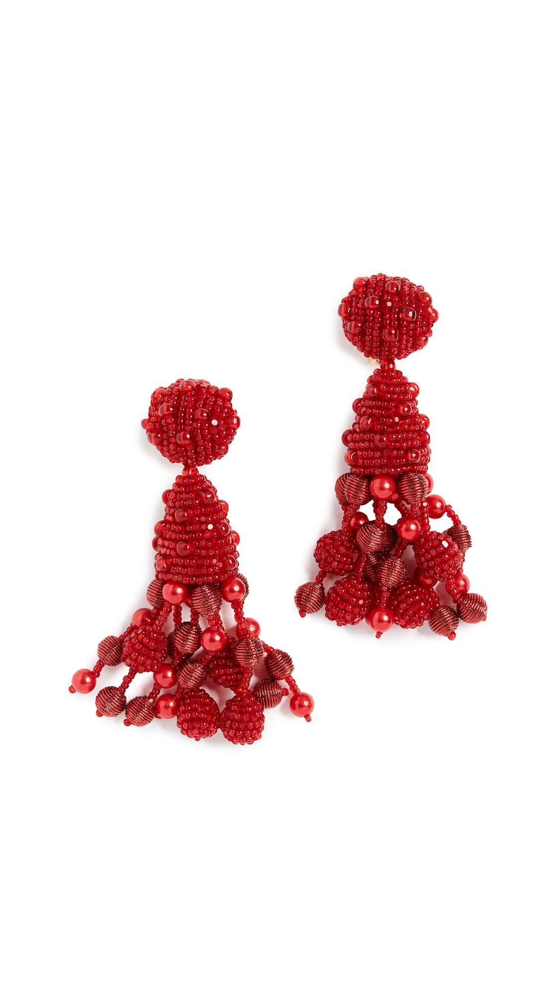 Oscar de la Renta Falling Tassel Earrings