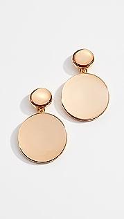 Oscar de la Renta Bold Resin Mirror Drop Earrings