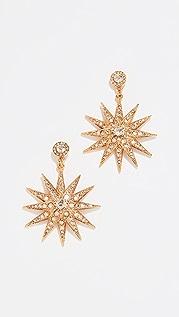 Oscar de la Renta Классические серьги Star P с кристаллами