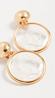 Oscar de la Renta Cameo Earrings
