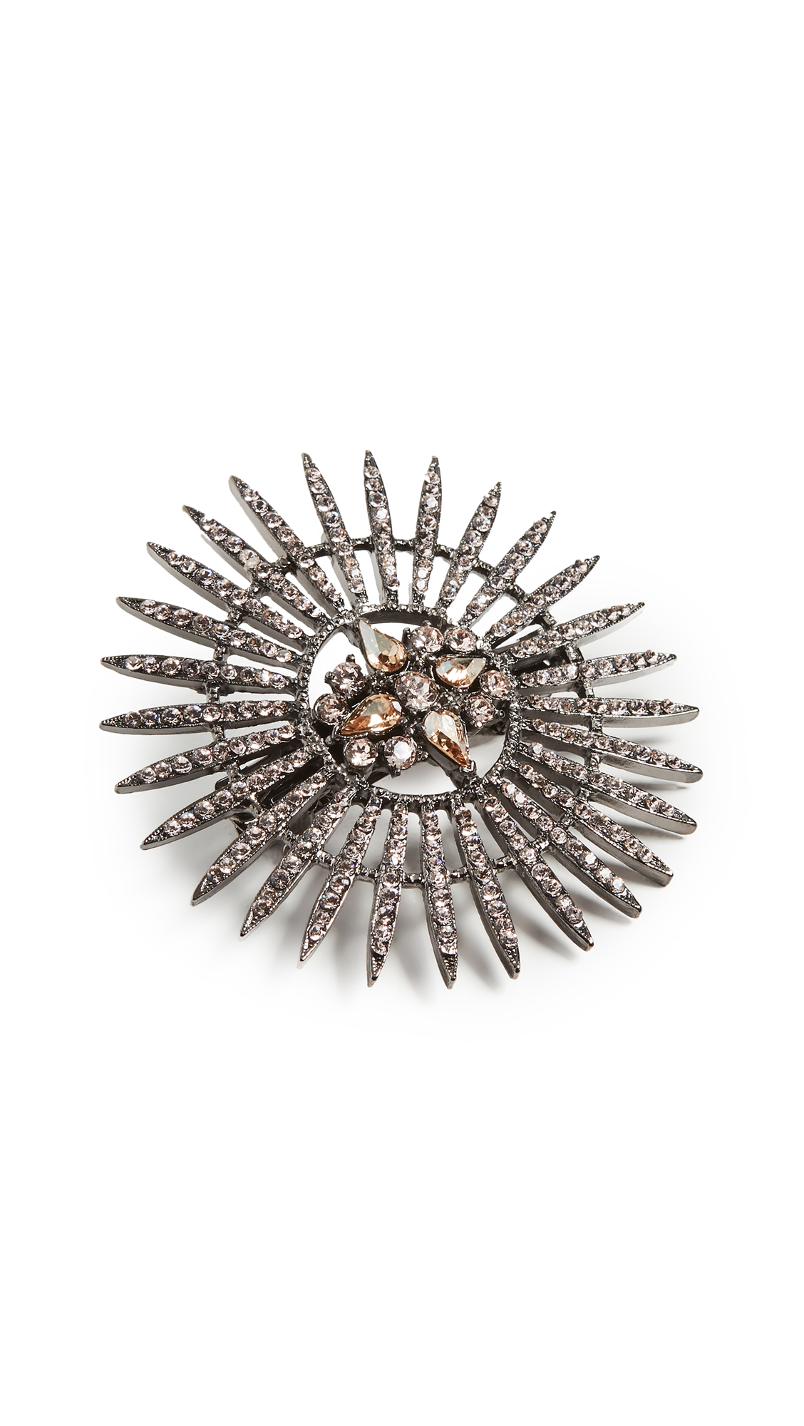 Oscar De La Renta Pave Point Hair Clip In Silk