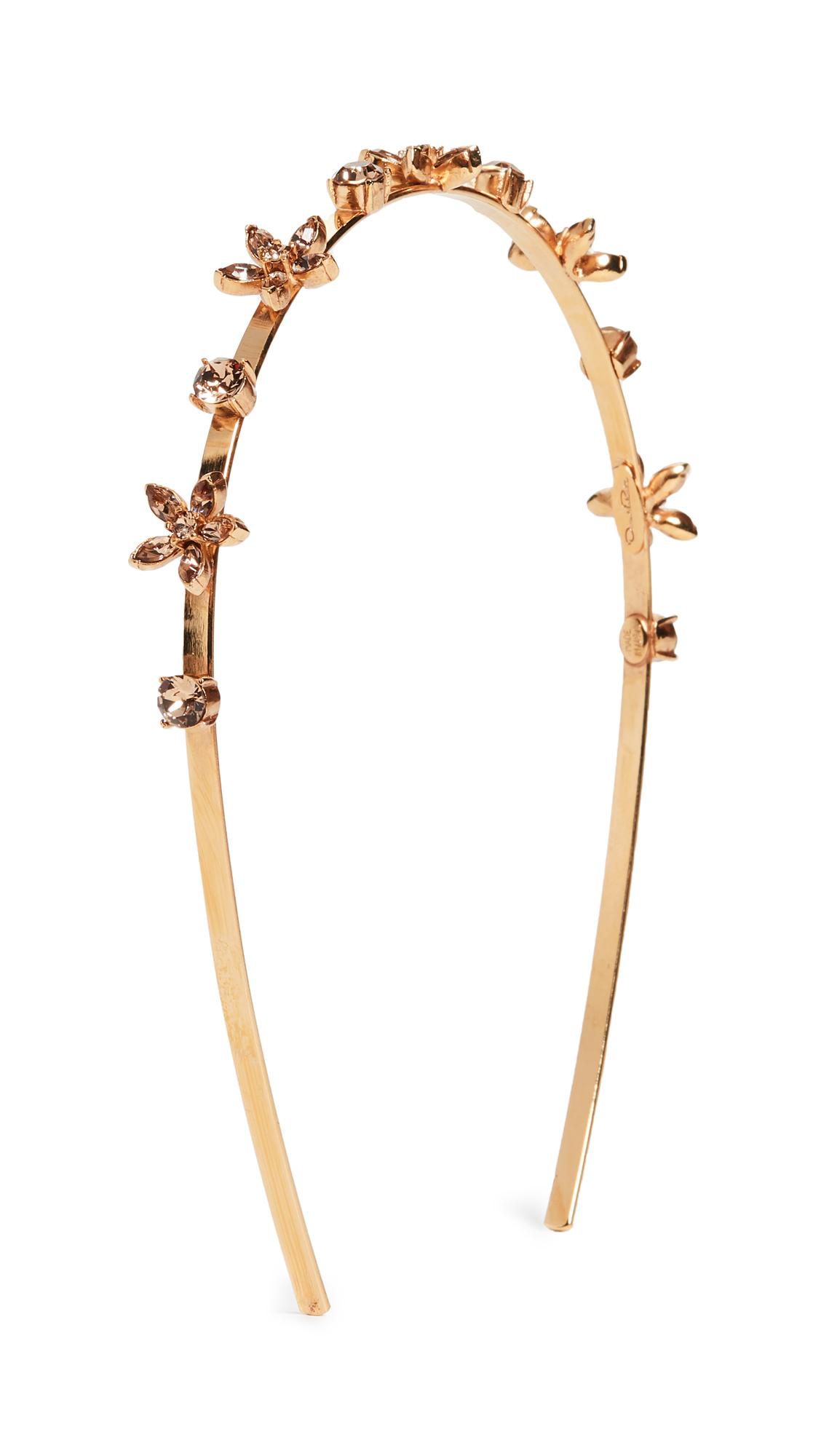 Oscar De La Renta Crystal Star Headband In Light Topaz