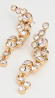 Oscar de la Renta Round Crystal Earrings