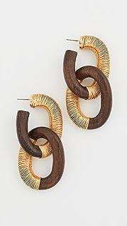 Oscar de la Renta 丝线链条耳环