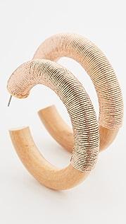 Oscar de la Renta Thread Hoop Earrings
