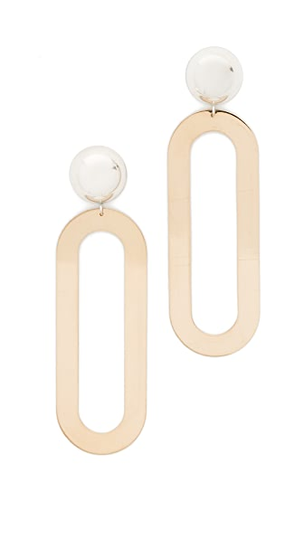 ONE SIX FIVE Jewelry The Helen Earrings - Gold/Silver