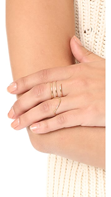 ONE SIX FIVE Jewelry The Wave Ring