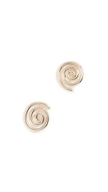 ONE SIX FIVE Jewelry Spiral Stud Earrings
