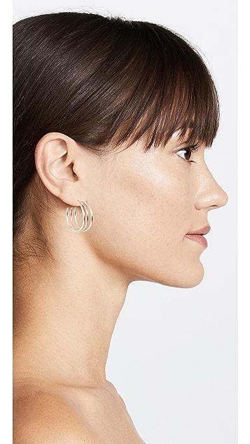 ONE SIX FIVE Jewelry Triple Hoop Earrings