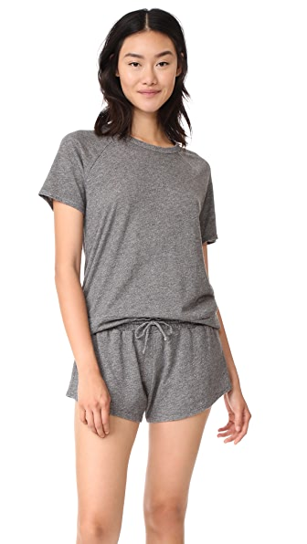OLYMPIA THEODORA Milan Shorty PJ Set - Charcoal
