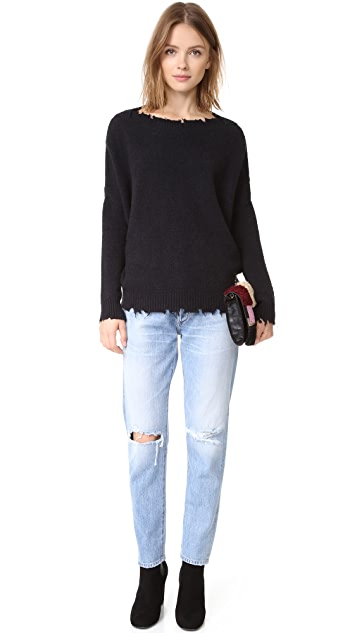 Otto d'ame Distressed Knit Pullover
