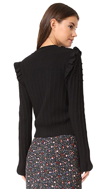 Otto d'ame Giacca Ruffle Cardigan
