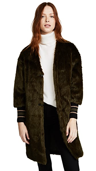 Otto d'ame Betty Faux Fur Coat at Shopbop