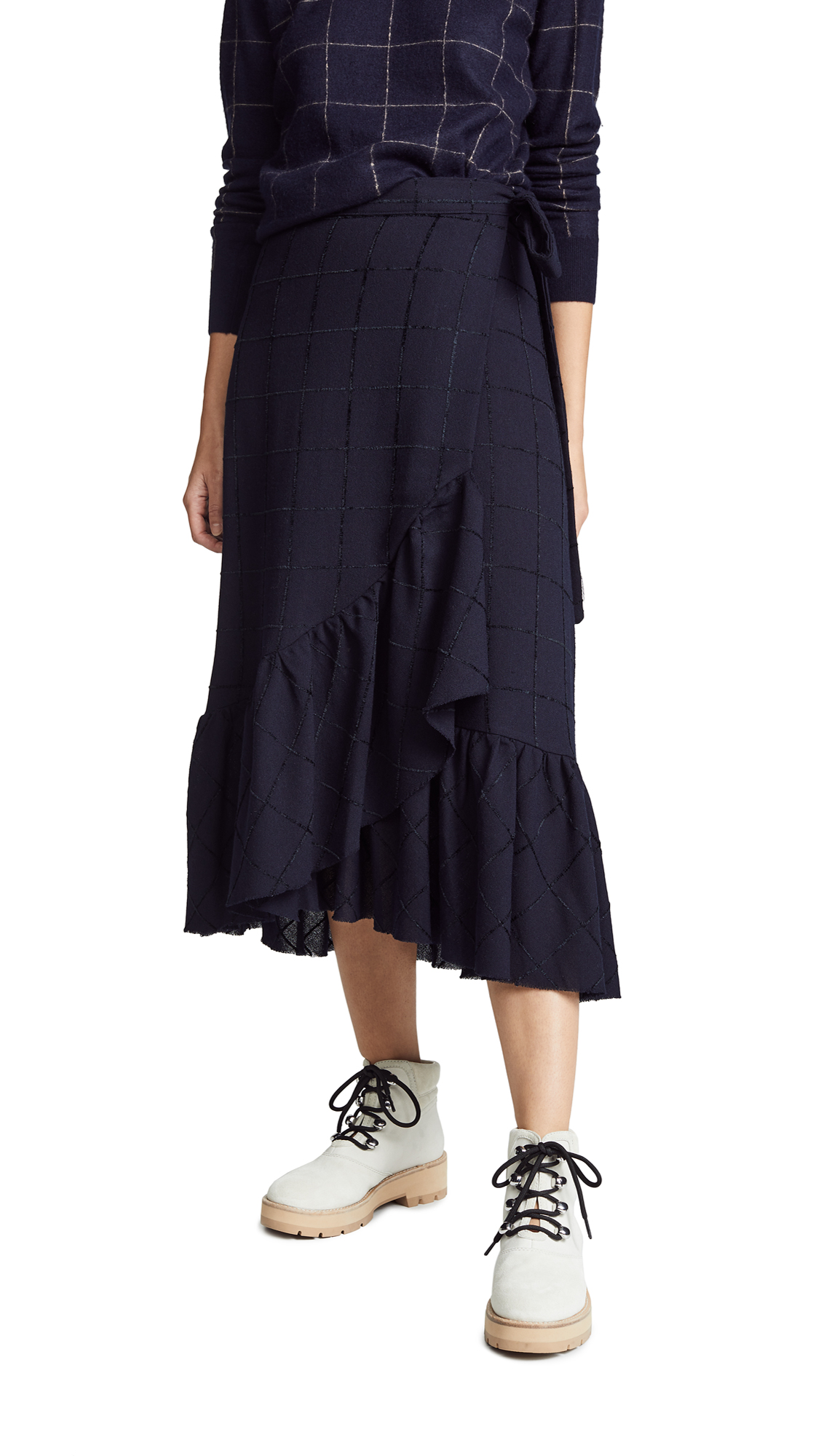 Otto d'ame Saetta Skirt In Blue