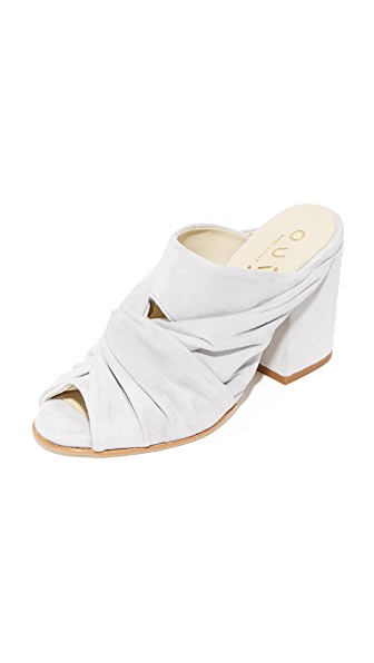 Ouigal Linzy Mules - Grey