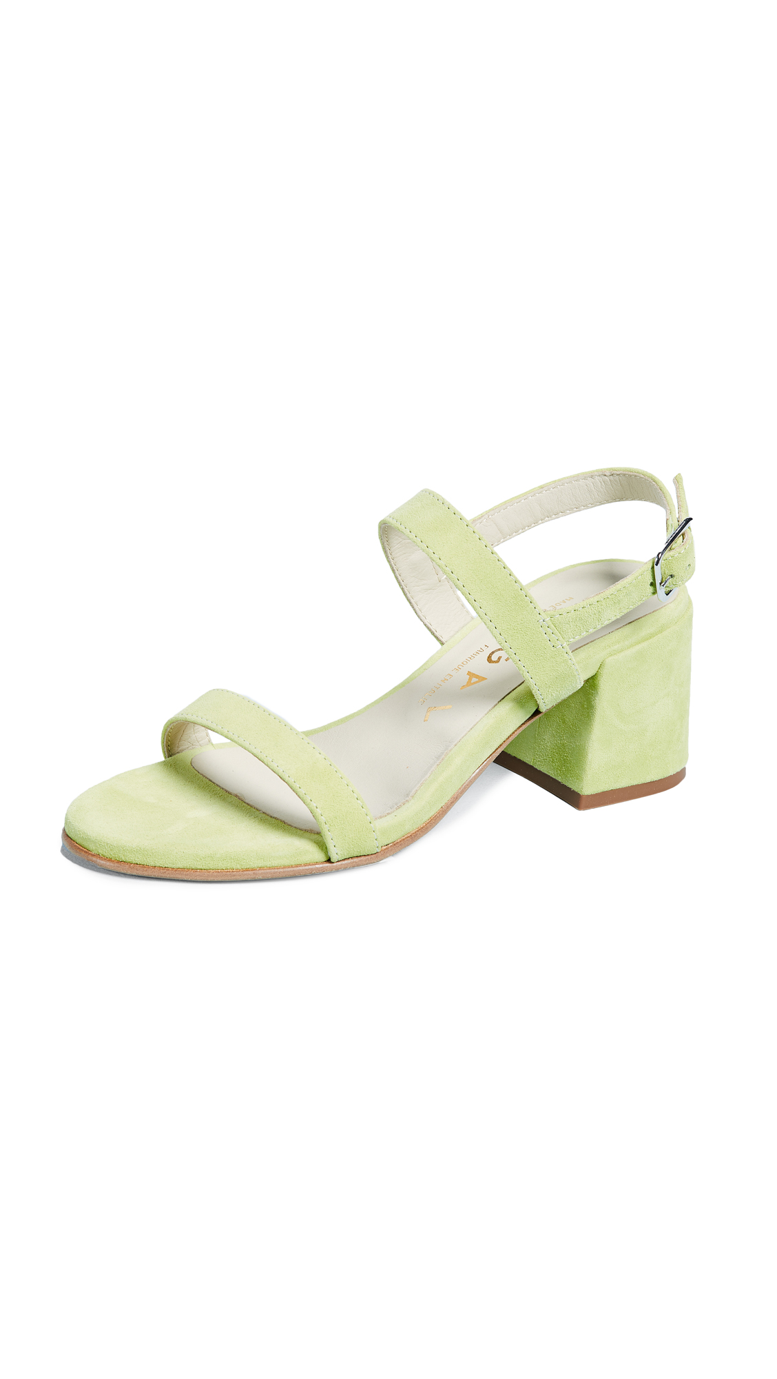 Ouigal Pearl Block Heel Sandals