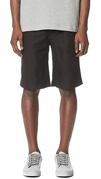 Our Legacy Relaxed Cotton Linen Shorts