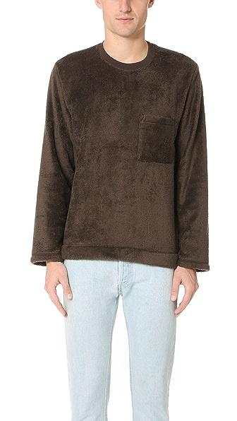 Our Legacy Box Long Sleeve Polarfleece Sweatshirt