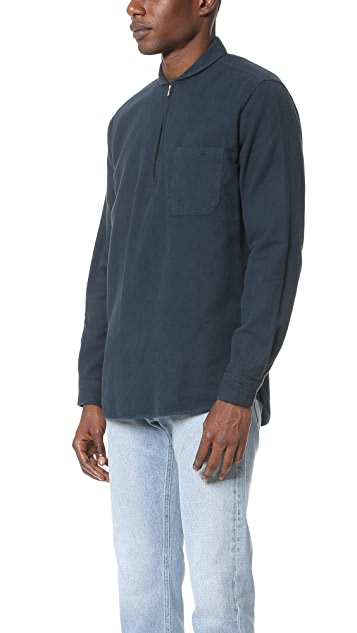 Our Legacy Ultimate Flannel Shawl Zip Shirt