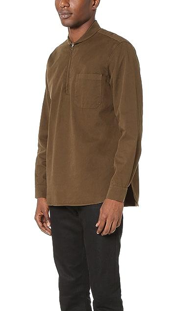 Our Legacy Twill Shawl Zip Shirt