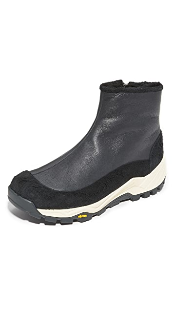 Our Legacy Bear Foot Shearling Zip Boots