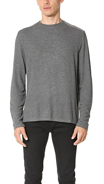 Ovadia & Sons Patch Detail Long Sleeve Tee
