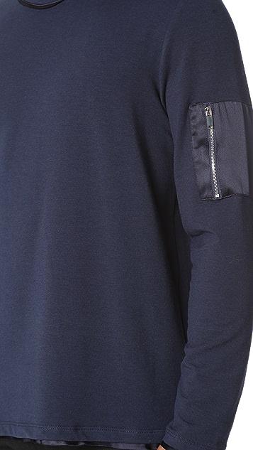 Ovadia & Sons Satin Trim Sweatshirt
