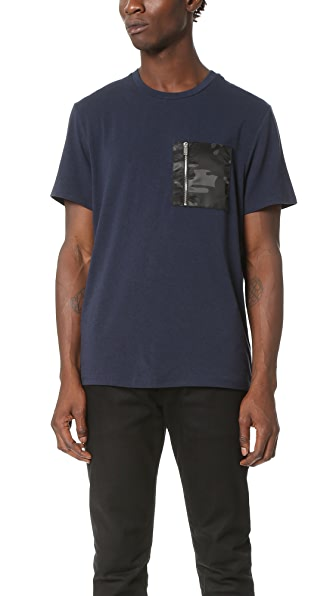 Ovadia & Sons Alex Zip Pocket Tee