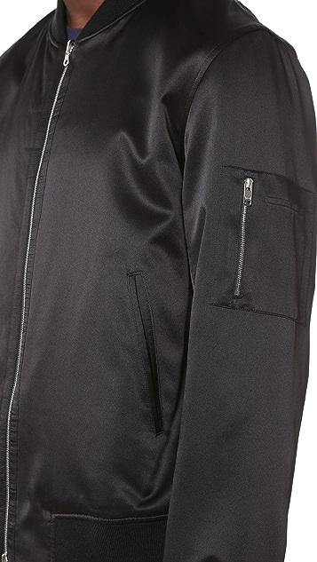 Ovadia & Sons Reversible Satin Bomber Jacket