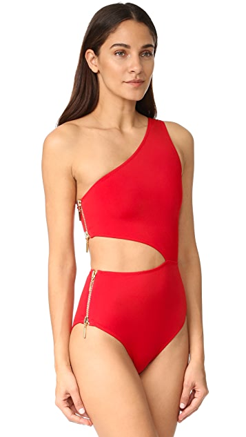 OYE Swimwear Kim One Shoulder Swimsuit