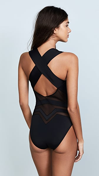 74831dea11 OYE Swimwear Bane Deep V One Piece | SHOPBOP