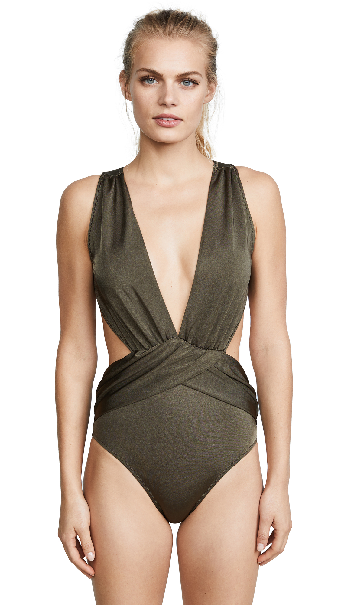 OYE Swimwear Elvira Daring One Piece In Safari