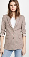 Paco Rabanne Fitted Plaid Blazer