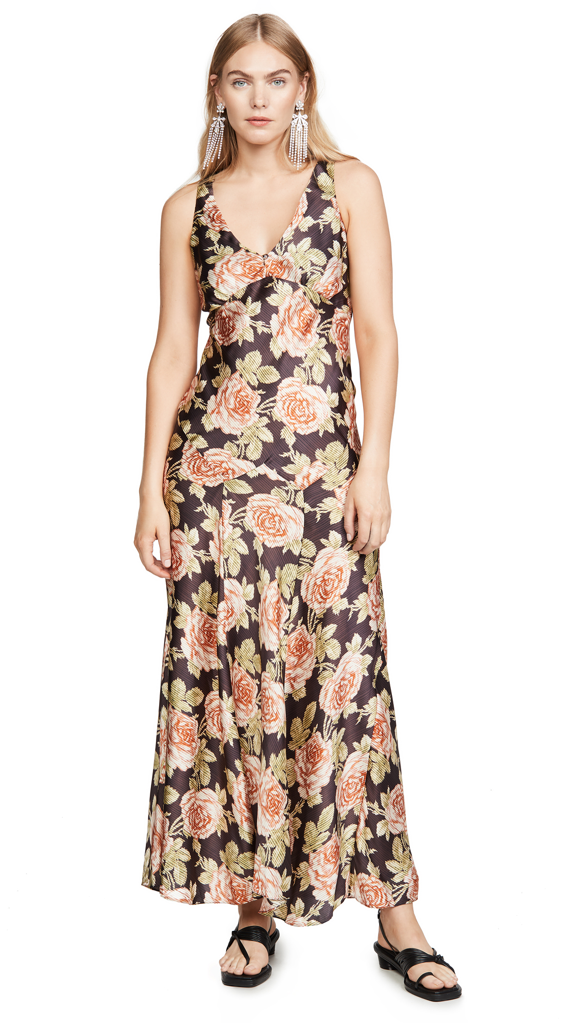 Buy Paco Rabanne online - photo of Paco Rabanne V Neck Floral Dress